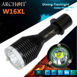 W16XL CREE Xm-L U2 Max 860 Lumens Dive Light Waterproof 100meters pictures & photos