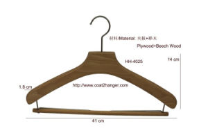 Beech Wood Hanger, Women′s Hanger, Cheap Clothes Pants Luxury Hanger, Suit Hangers. pictures & photos