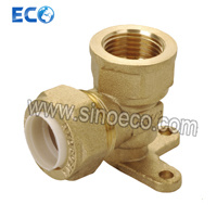 Brass Wallplate Elbow Female Pipe Fittings for PPR pictures & photos
