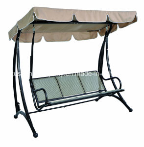 Deluxe3 Seater Patio Garden Swing Chair with Textilene pictures & photos