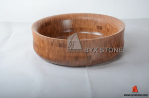 European Style Round Bamboo Sinks for Bathroom pictures & photos