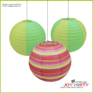 Round Printing Paper Lantern for Seasonal Easter Party Decoration pictures & photos