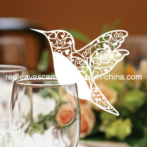Red Leaves Laser Cutting Hummingbird Glass Card (color and pattern can be customized)
