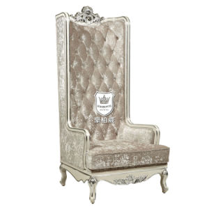 Silver Leaf Throne Sofa Chair with High Back for Hotel pictures & photos