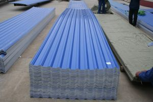 Fiber Glass Reinforced Trapezoidal Style Roof Sheet pictures & photos