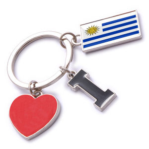 New Custom Metal Souvenir Uruguay Keyring pictures & photos