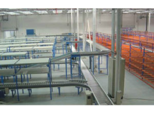 Curved Multi-Track Roller Conveyor Assembly Line-1