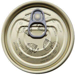 206# Tin Easy Open Lid pictures & photos
