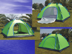 190t Automatic Outdoor Camping Tent for 3 Persons (JX-CT006) pictures & photos
