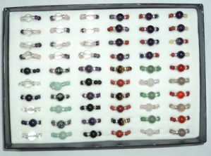 Natural Stone Crystal Beaded Ring pictures & photos
