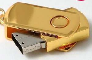 Hot Sale! Golden Swivel USB Flash Disk pictures & photos