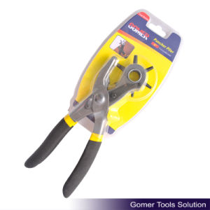 Leather Hole Punch Plier with Dipped Handle (T03004)