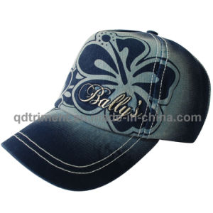 Wahsed Discharge Print Embroidery Leisure Baseball Cap Hat (TMB2001) pictures & photos