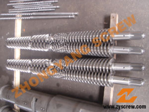 Conical Twin Screw Barrel for Plastic Extruder pictures & photos