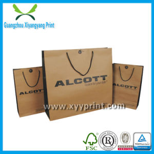 New Fashion Recycle Cheap Brown Kraft Paper Bag Shopping pictures & photos