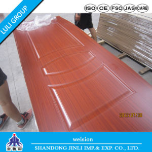 3mm-4.5mm High Glossy Molded/Moulded Melamine HDF Door Skin for Interior Doors pictures & photos