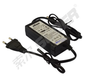 Round Plug 12V 3A with 2 Wires Power Adapter (PA-1700-04) pictures & photos
