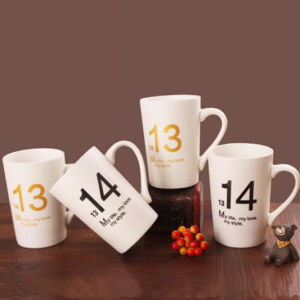 Ceramic Gift Cups Coffee Mugs with Customer Logo Design pictures & photos