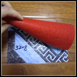 Manufacturer of Red White Green Felt Backing PVC Roll Flooring pictures & photos