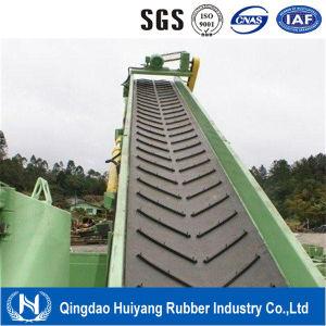 ISO9001 Chevron Pattern Conveyor Belt 5mm High Chevron Conveyor Belt