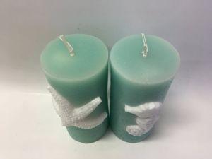 Light Green Smart Design Ocean Animal Embossed Pillar Candle pictures & photos