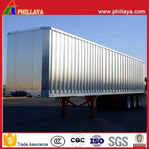 3axles Steel Aluminum Strong Box Side Curtain Truck Semi Trailer with Side Back Doors pictures & photos