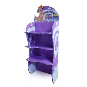 Cardboard Standing Floor Display Rack, Corrugated Pallet Display Shelf. pictures & photos