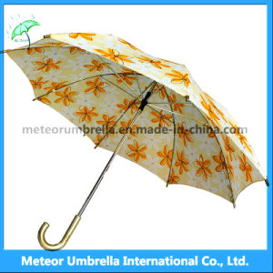 Beautiful Chinese Style Printing Yellow Flower Umbrella for Sale