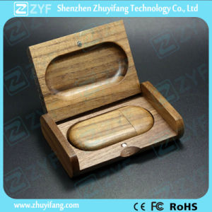 Walnut Wood USB Pen Drive with Wooden Box (ZYF1350) pictures & photos