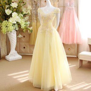 Spaghetti Straps V-Neck Lilac Chiffon Bridesmaid Dresses (MI 3520)