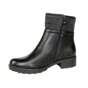 Black Platform Ladies Ankle Boots for Women pictures & photos