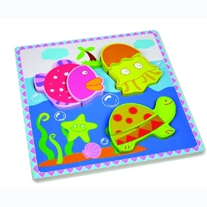 Wooden Puzzle Toy for Baby with Sea Animals (80631-1) pictures & photos