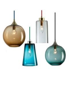 Modern Colorful Glass Pendant Lamp with Colored Knit Cable (WHG-112) pictures & photos