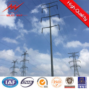 Conical Galvanized Electric Steel Pole pictures & photos