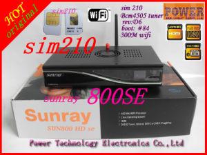 300m WiFi Bcm4505 Tuner SIM210 Card Sunray 800HD Se Satellite Receiver
