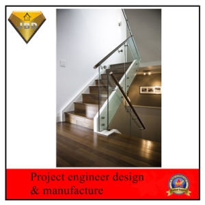 Frameless Glass Railing Stainless Steel Balustrade Glass Banisters (JBD-Z14) pictures & photos