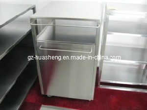 Metal Kitchen Cabinet with Dustbin (HS-039) pictures & photos
