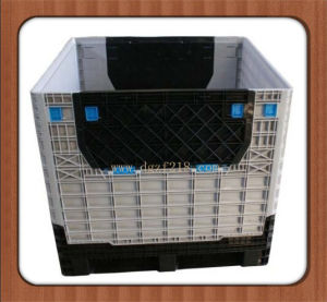 China Superior Quality Plastic Foldable Pallet Container for Warehouse Supplier pictures & photos