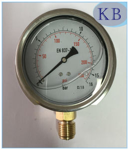En837-1 Manometer with Glycerine Oil Filled Dia. 63mm pictures & photos