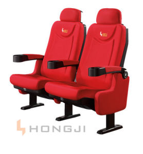 Hongji Best Selling Luxury Cinema Chairs Home Theatre Seating with Cup Holders pictures & photos