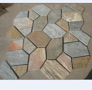 Yellow/Black/Rusty/Beige/Green Slate Random Size Tiles Crazy Paving pictures & photos