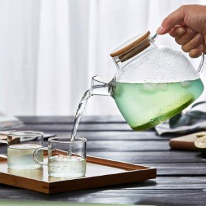 1L Europe Glass Tea Pot Cold Drinking Glass Pitcher Watering Can pictures & photos