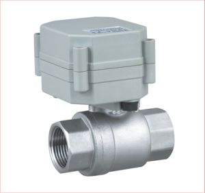 2 Way 3/4 Inch CE Electric Control Stainless Steel Ball Valve RoHS Motorized Lead Free Valve (T20-S2-A) pictures & photos