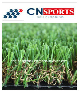 W Shape Mixed Artificial Grass, Synthetic Artificial Turf for Landscaping Garden pictures & photos
