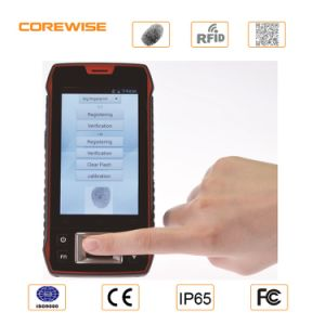 Handheld Rugged Android Fingerprint Smartphone with Barcode Scanner pictures & photos