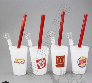 Fast Food Cup Glass 8′′ Water White Jade Oil Rigs Pipes pictures & photos