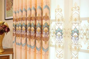 Gold Metallic&Applique Embroidery Curtain (MXC-02) pictures & photos