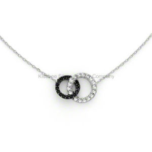 Sterling Silver Jewelry Chain Necklace Cubic Zircornia Rhodium Plated pictures & photos