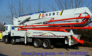 Hongda Group 28m Concrete Pump with Boom pictures & photos
