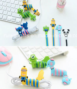 Fancy PVC Earphone Cable Winder for Business Gift pictures & photos